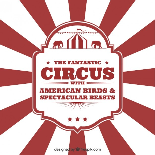 Circus Flyer In Vintage Style Free Vector