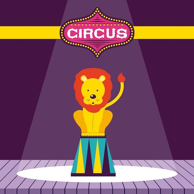 Circus fun fair Free Vector
