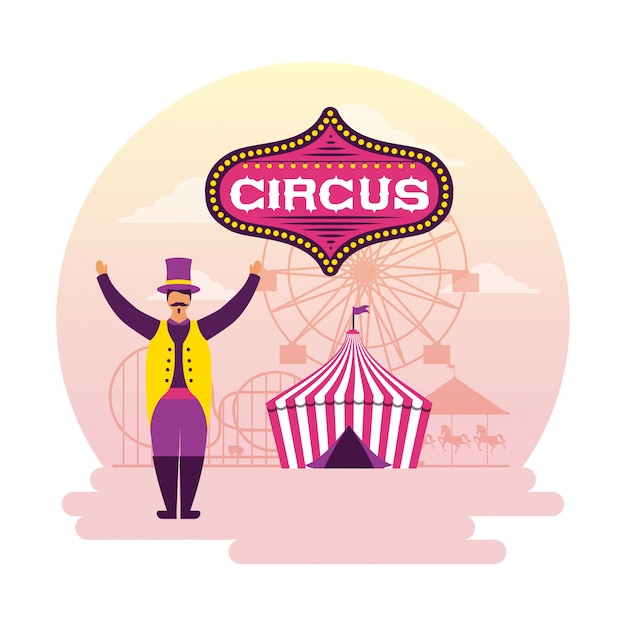 Circus fun fair Free Vector