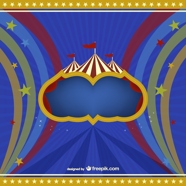 Circus marquee background Free Vector