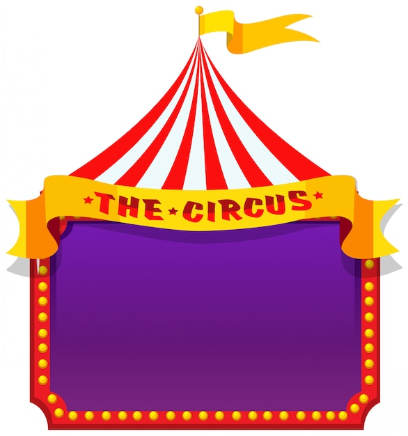 A circus on note banner Free Vector