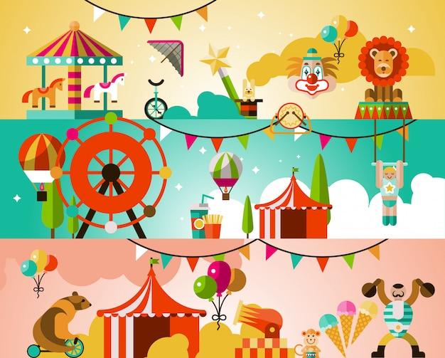 Circus performance illustration Free Vector