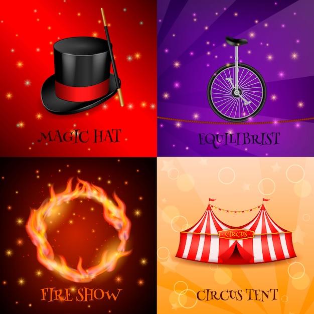 Circus realistic Free Vector