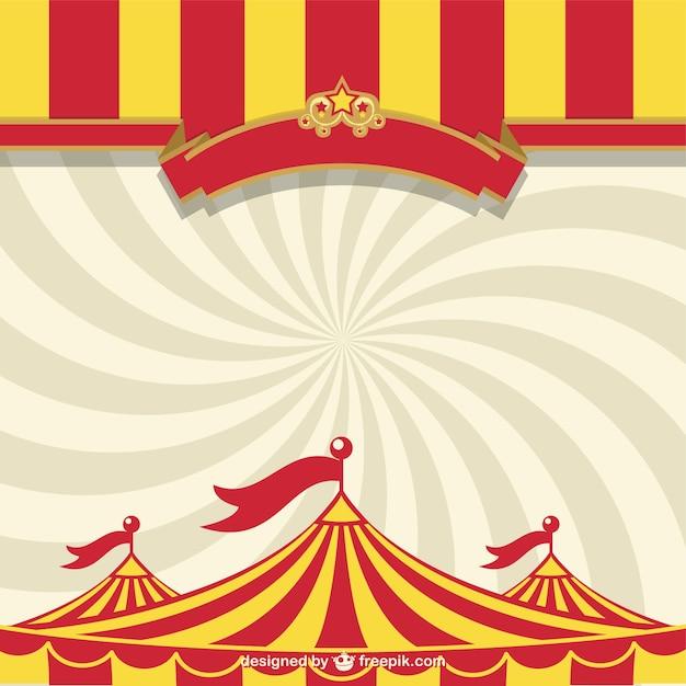 Circus tent and sunburst Free Vector