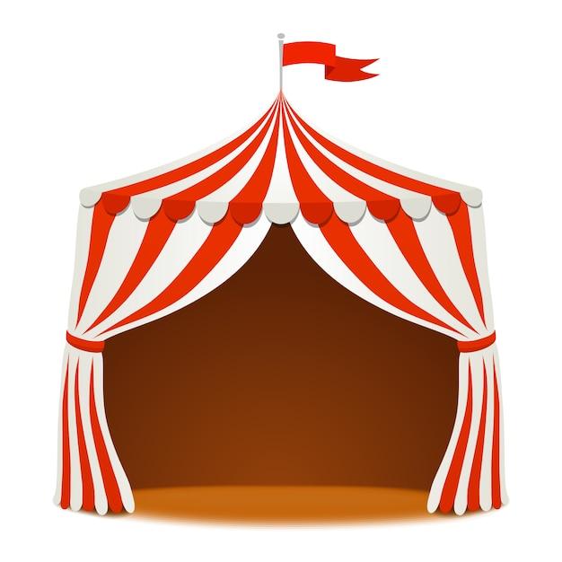 Цирковая палатка с флагом Premium векторы