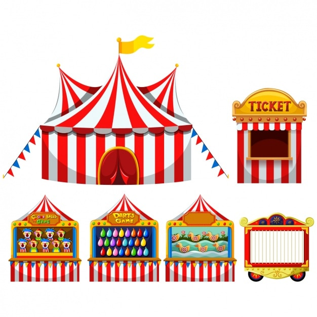Circus tents collection Premium Vector  sc 1 st  Freepik & Circus tents collection Vector | Premium Download