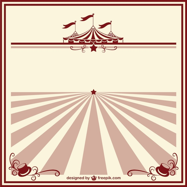 circus vintage poster template vector free download