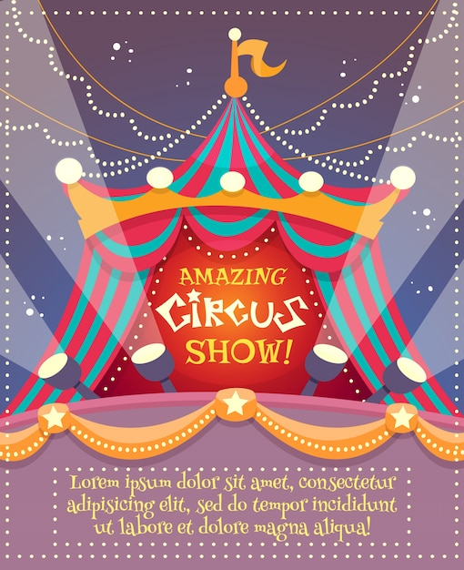 Circus vintage poster Free Vector