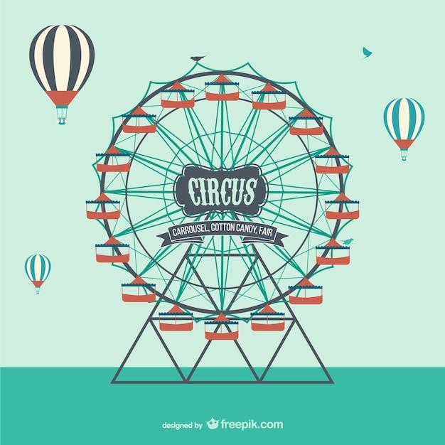 Circus wheel Free Vector