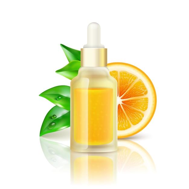 Citrus vitamin natural c realistic image Free Vector