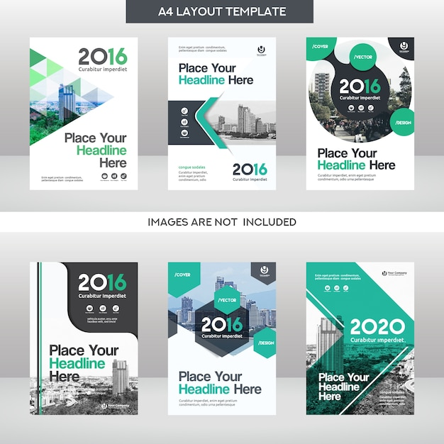 Business Book Cover Design Template : City background business book cover design template set