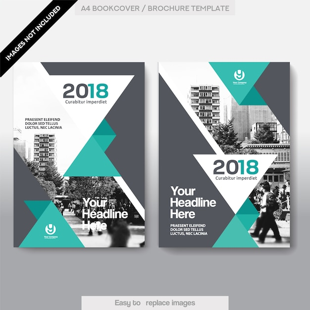 Business Book Cover Design Template : City background business book cover design template vector