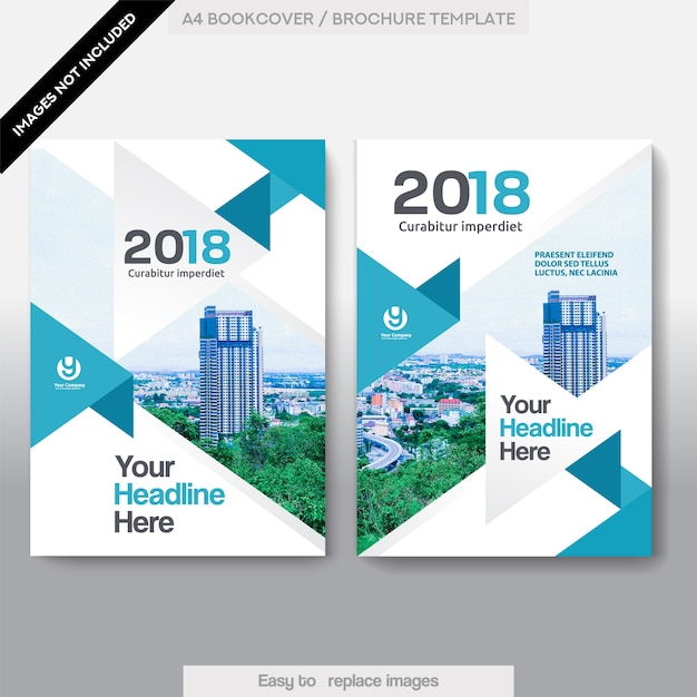 Business Book Cover Vector : City background business book cover design template vector
