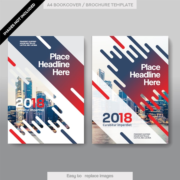 Corporate Book Cover Design Vector : City background business book cover design template vector