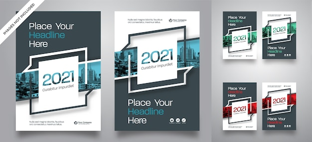 City background business book cover design vector template Premium Vector