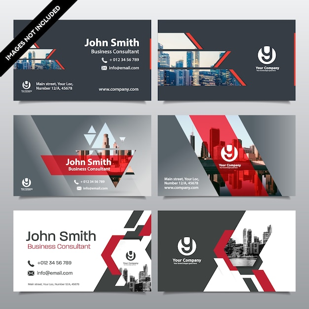 City Background Business Card Design Template Can Be Adapt To Brochure Annual Report