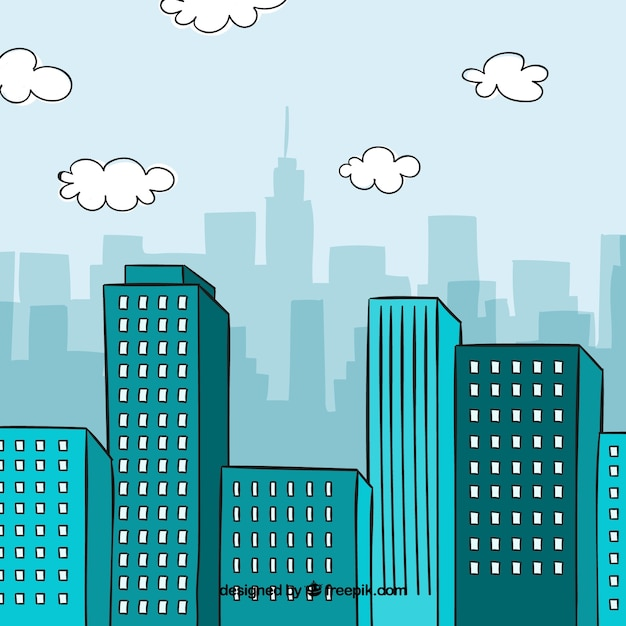 City background design Free Vector