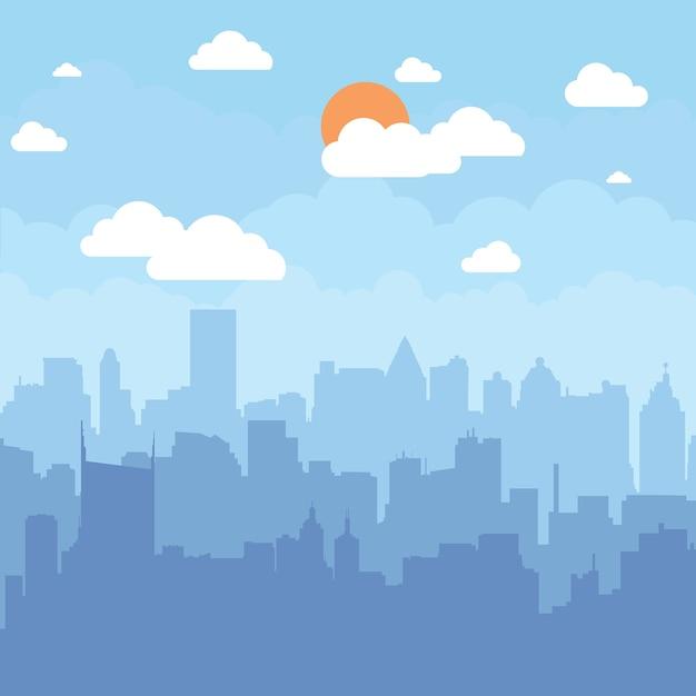 City background Premium Vector