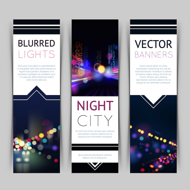 City banner vertical Free Vector
