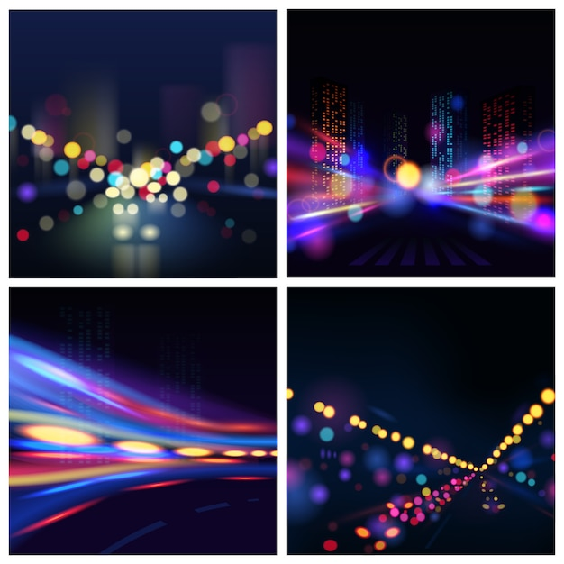 City blur background Free Vector