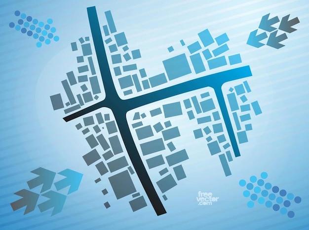 City building plan architect vector Vector Free Download