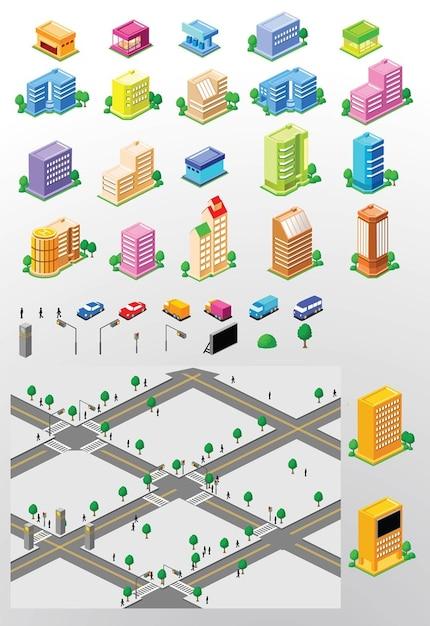 City Building Vectors Vector Free Download