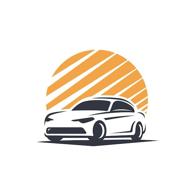 City car logo silhouette Premium Vector