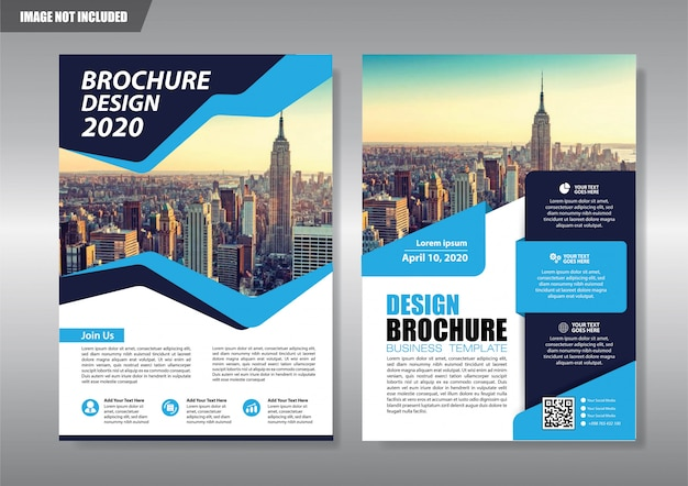 City flyer with geometric shape Premium Vector
