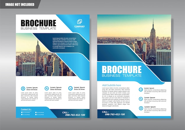 City flyer with geometric shape Premium Vector
