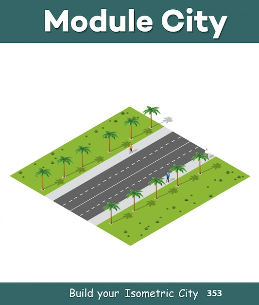 City high-speed highway Premium Vector