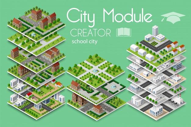 City module creator Premium Vector