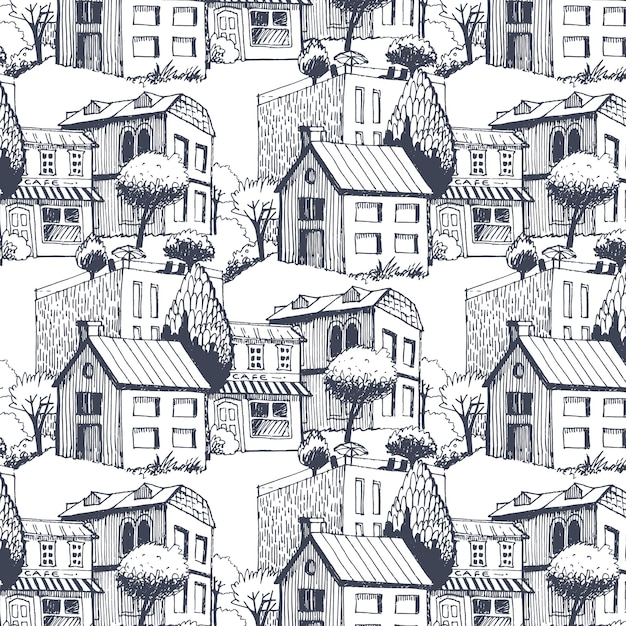 City pattern Free Vector