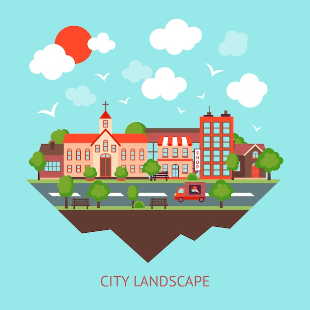 City scape background Free Vector
