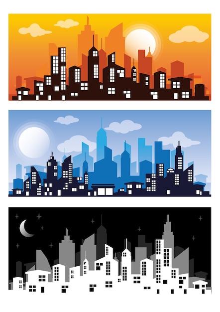 Premium Vector | City silhouette vector