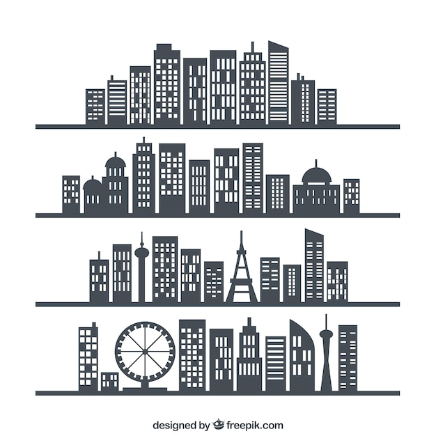 City skylines Free Vector