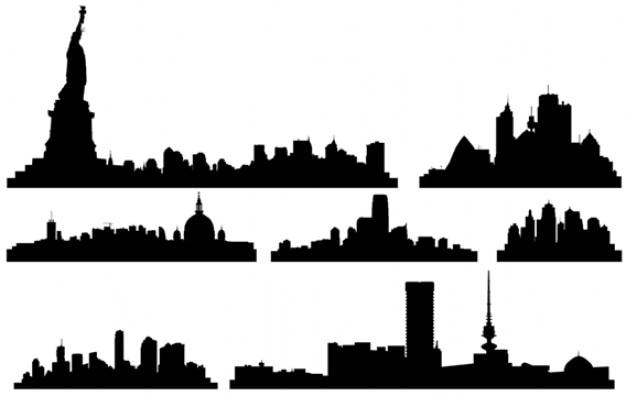 city skylines vector free download rh freepik com new york city skyline silhouette vector free new york city skyline vector art