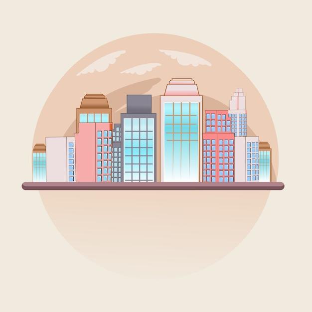 City town globe Premium Vector