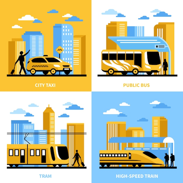 City transportation design concept Free Vector