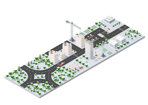 Cityscape city street Premium Vector