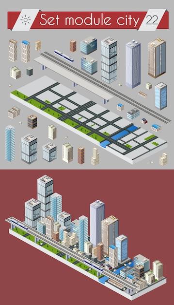 Cityscape design elements Premium Vector