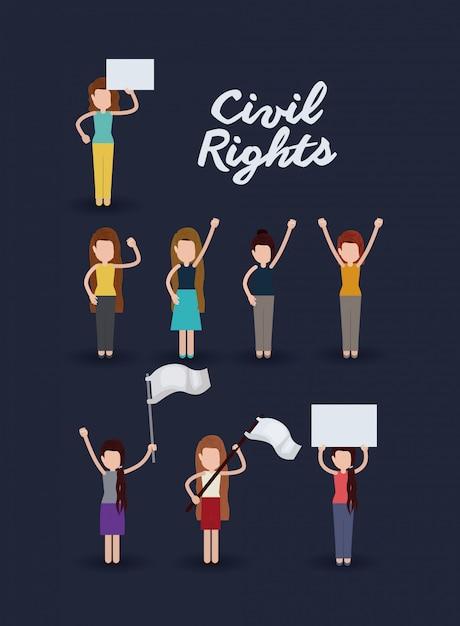 Civil rights Free Vector