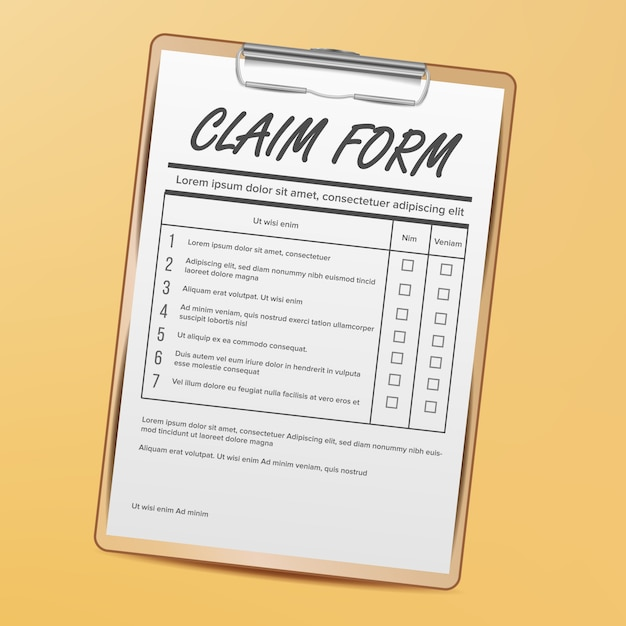 Claim form. medical, office paperwork Vector | Premium Download on medical assistant job application, office assistant job application, restaurant job application, medical center job application,