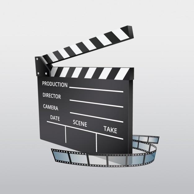 Clapboard background design Free Vector