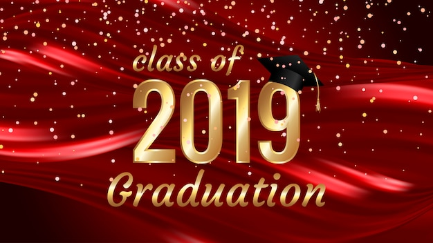 Class of 2019 graduation text design for cards, invitations