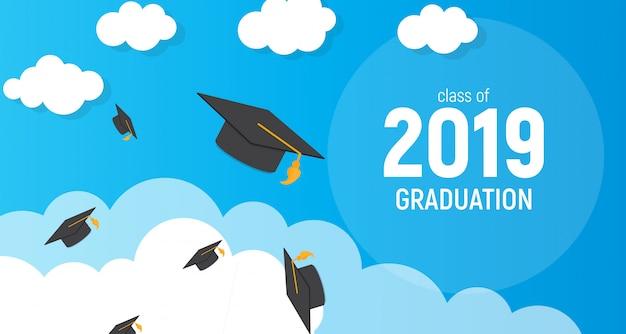 Класс образования выпускника 2019 года. Premium векторы