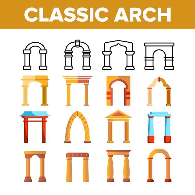 Classic arch Premium Vector