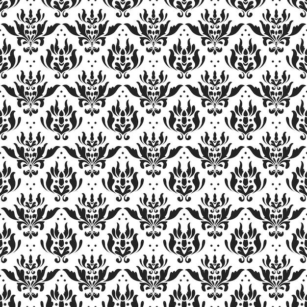 Classic batik seamless pattern background. luxury leaf mandala wallpaper. elegant traditional floral motif Premium Vector