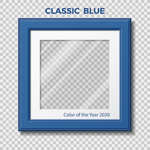Classic blue. color of the year pantone. Premium Vector