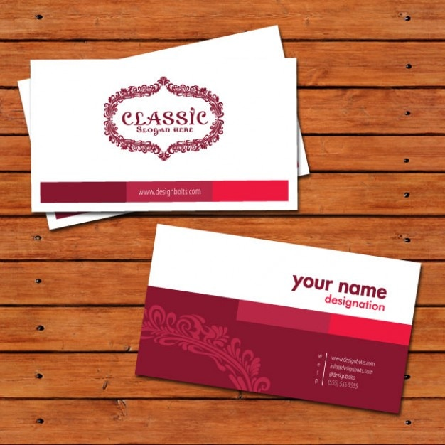 Classic business card design template Free Vector