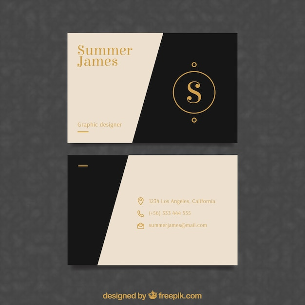 Classic business card with elegant style vector free download classic business card with elegant style free vector colourmoves